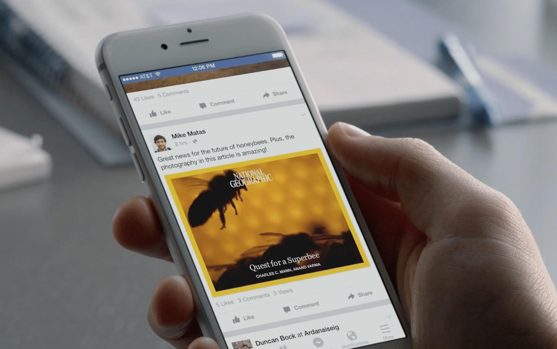 Instant Articles starten am 12.4.2016 bei Facebook. Gerade für Mobiltelefone sind diese Artikel dann optimiert und bringen ein neues Leseerlebnis.